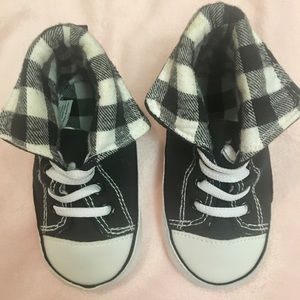 Other - Black and white checkered sneakers size 12/18mo
